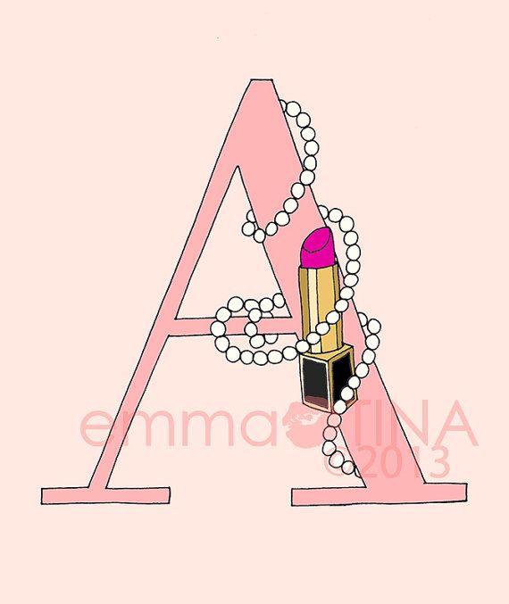 Lippenstifte und Perlen Brief eines Druckauftrags Wahl Pink