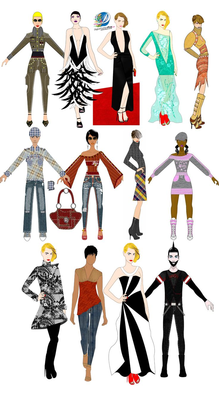 Free poster design software for windows 7 - Digital Fashion Pro Fashion Design Software Sketch Illustration Fashion Models