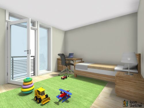 You Decide What Should Hang On The Wall In This Kids Room 3d