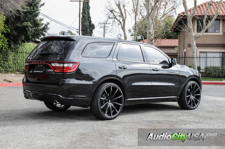 "2016 Dodge Durango RT | 24"" Lexani Wheels CSS 15 gloss black, machine tips 