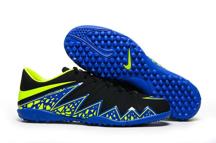 Nike Hypervenom Phantom II Turf Soccer Shoes 2015(Black Blue Green)