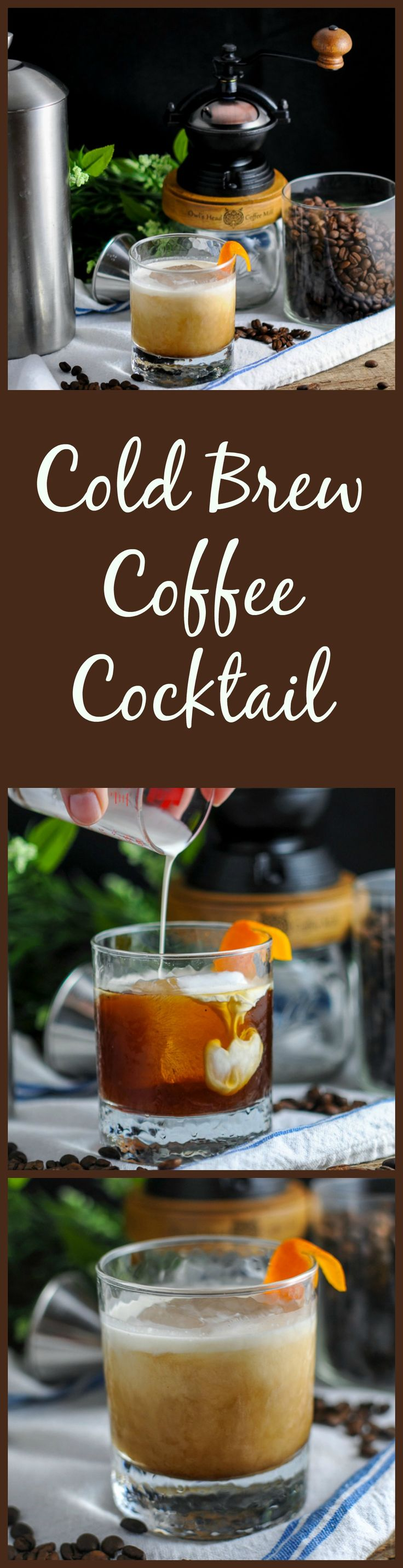 Cold Brew Coffee Cocktail - cold brew coffee, bourbon, triple sec, cream, maple syrup #ad #sponsored drink, iced, recipe, easy