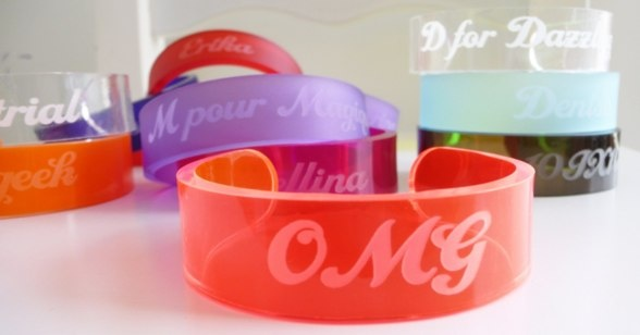 Unique handmade acrylic bracelets with your message on!   box2order@gmail.com