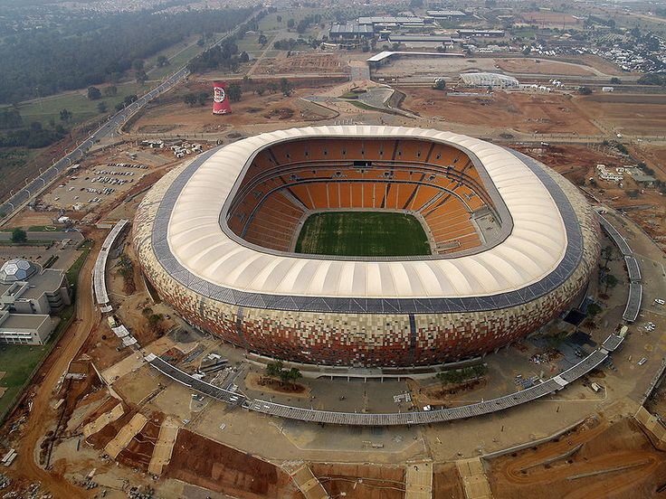 Soccer City in Jo'burg, South Africa, host of the final @ World Cup 2010.