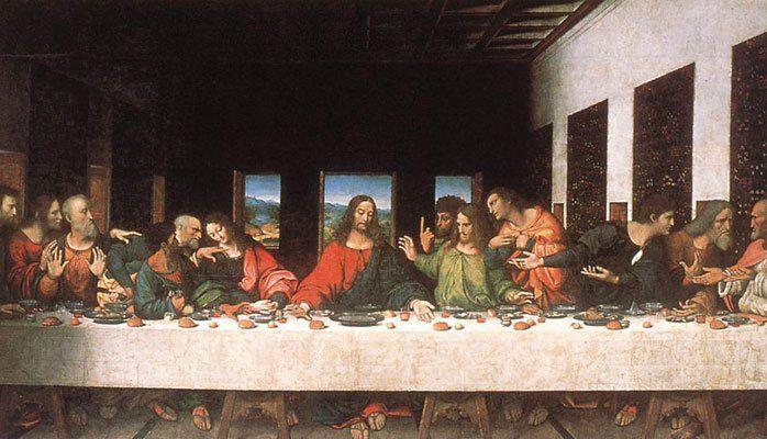 La última cena  (1495-1497) Leonardo da Vinci