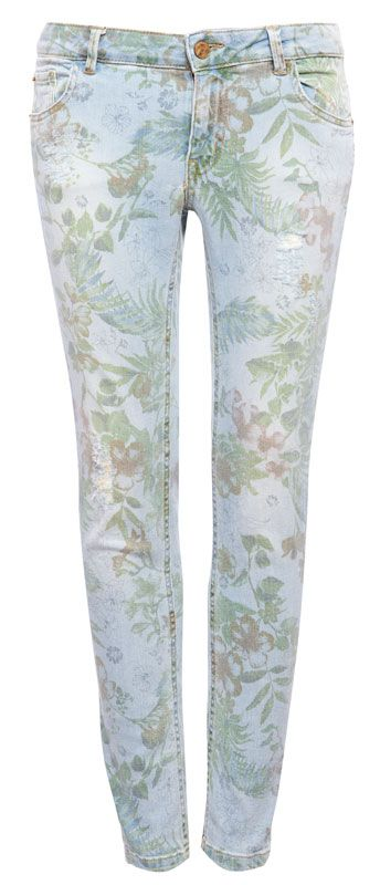 JEANS SKINNY PRINT FLORES