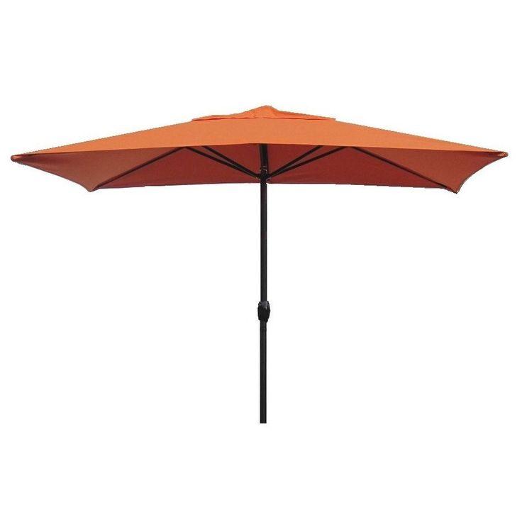 escada designs egscu236 sp17d sunset orange aluminum 10 foot x 6 foot rectangular patio umbrella sunset - Designer Patio Umbrellas