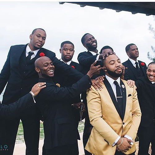 When your groomsmen play too much. Photo by ...