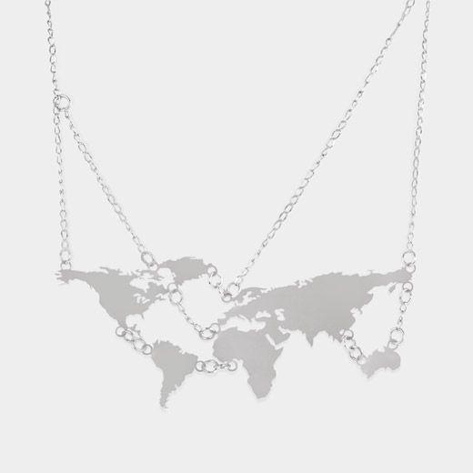 World Map Necklace  Kegan Fisher and Liz Kinnmark, 2011