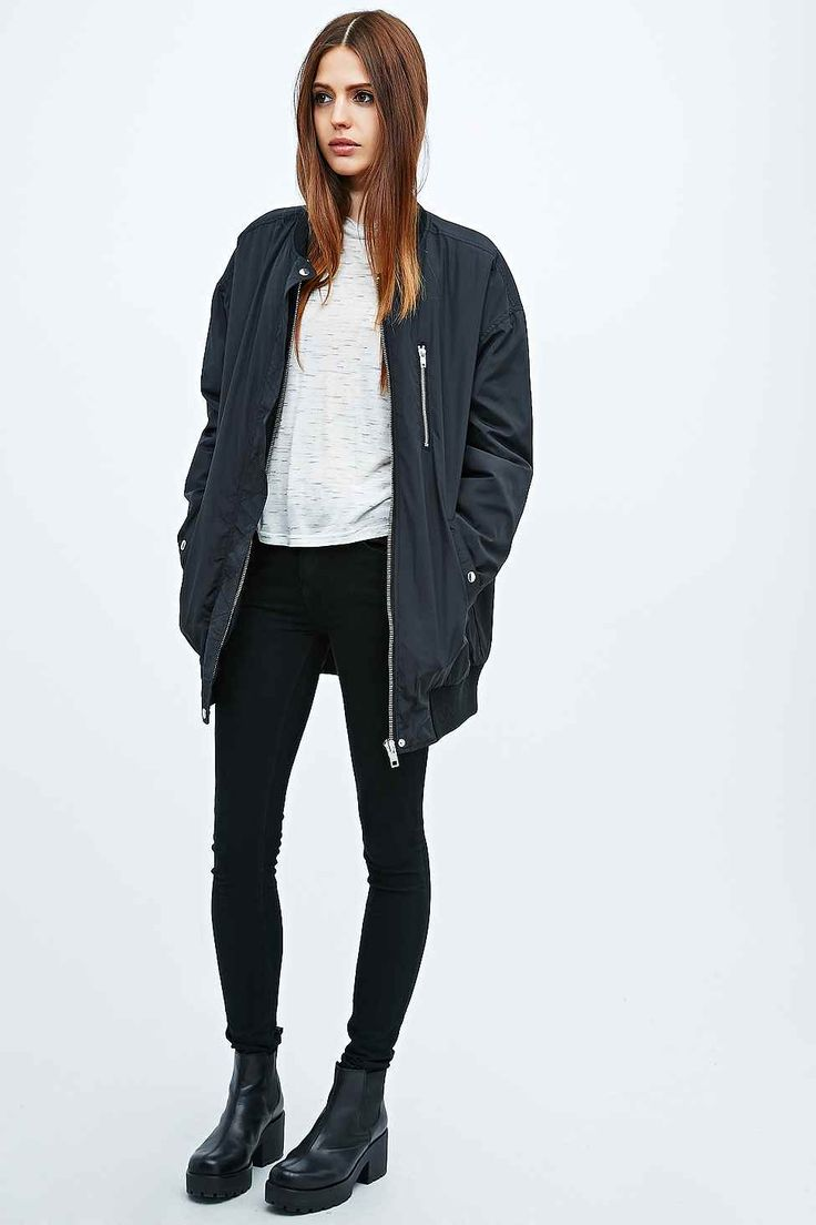 17 Best ideas about Long Bomber Jacket on Pinterest | Oversized