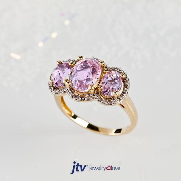 Jtv Necklaces: We Think This Three Stone Kunzite Ring Is A Perfect Symbol