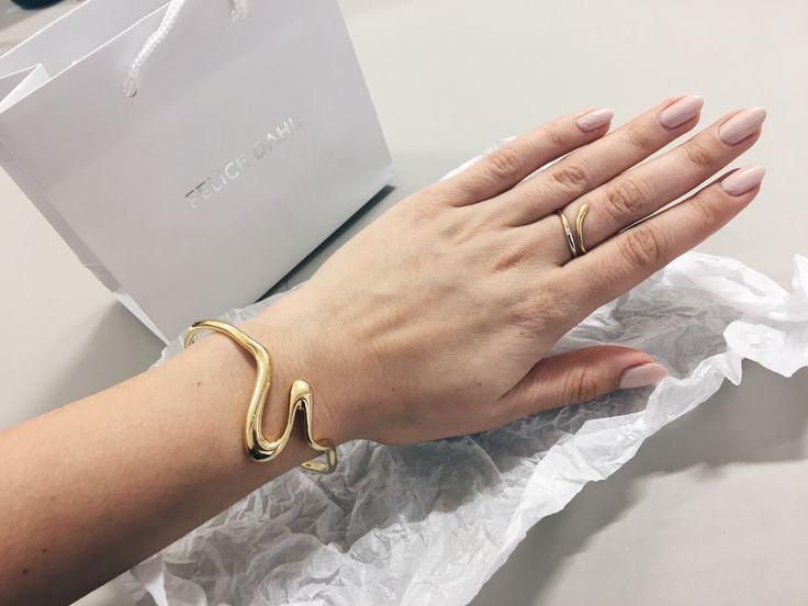 ByNoelle | Felice Dahl Style | Första Cuff Bracelet + Ljus Ring