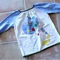Malkittel für Kinder Schnittmuster für einen praktischen Kittel