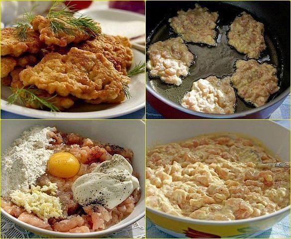 """Куриные """"растрепки"""" Я просто в восторге от этого рецепта! Это так вкусно и сочно! Стал моим любимым... Ингредиенты: ●Куриная грудка - 3 шт. ●2-3 ст. л. майонеза, ●1 яйцо, ●2-3 ст. л. муки или крахмала ●соль, перец по-вкусу ●3-4 зубчика чеснока ●щепотка карри"""