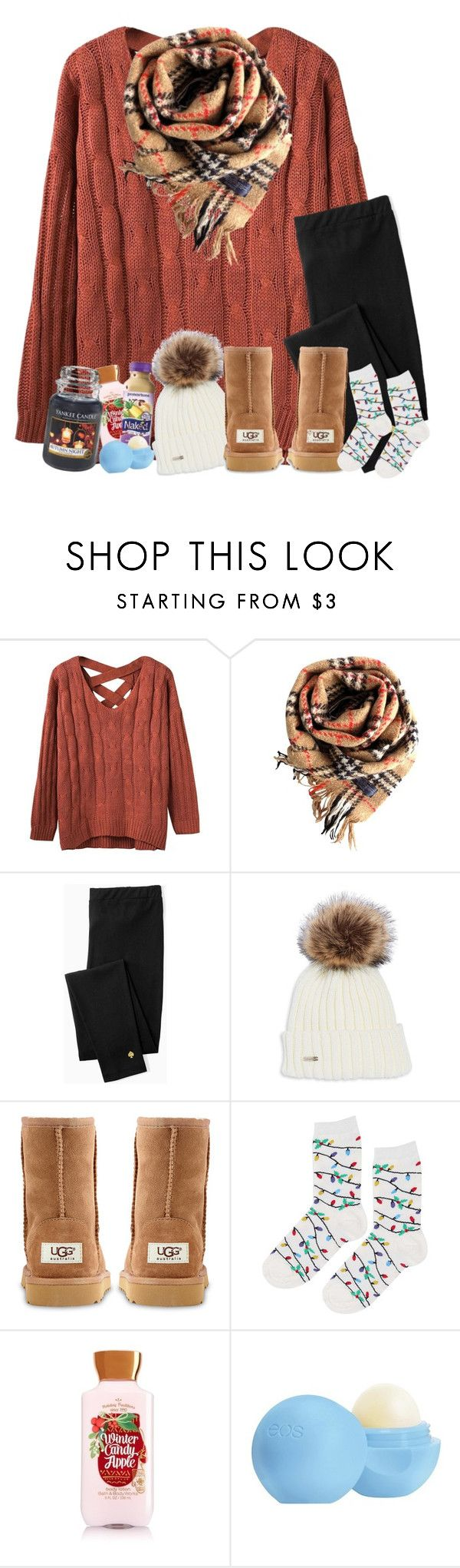 """The best way to spread Christmas cheer is singing loud for all to hear"" by tinyblueowls ❤ liked on Polyvore featuring Burberry, Kate Spade, UGG Australia, Topshop, Zone, Eos and Yankee Candle"