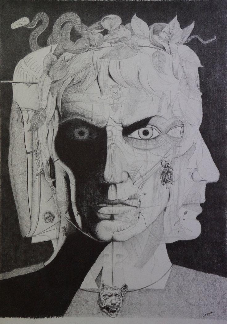 """""""Sulla"""", grey lead on paper, 29.7 x 42cm, 2014."""