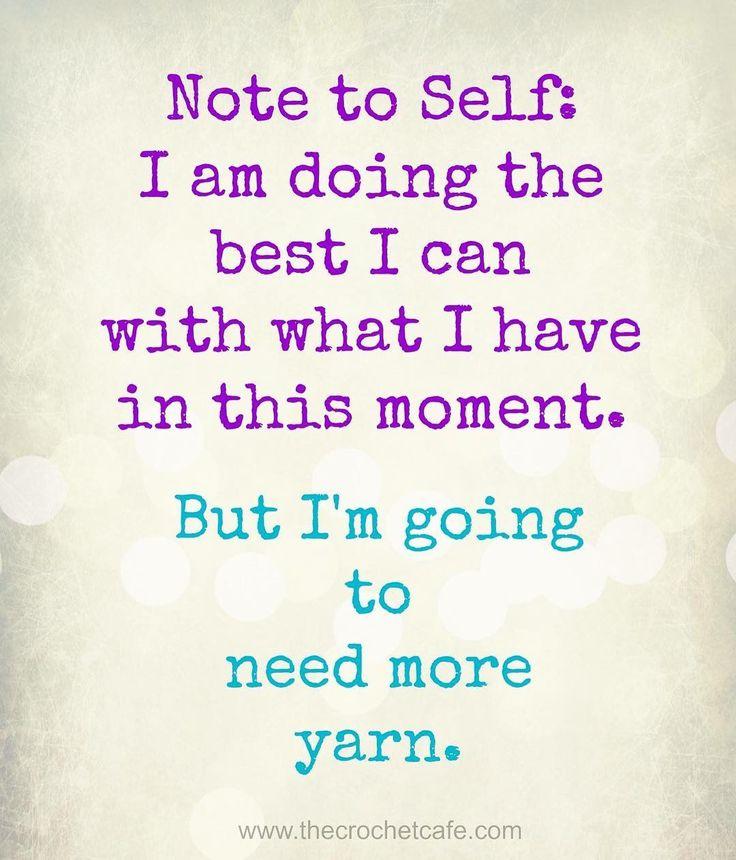 Always more yarn!