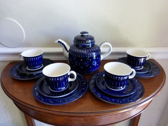 Arabia of Finland Valencia Coffee Set by coventgardenvintage, $625.00
