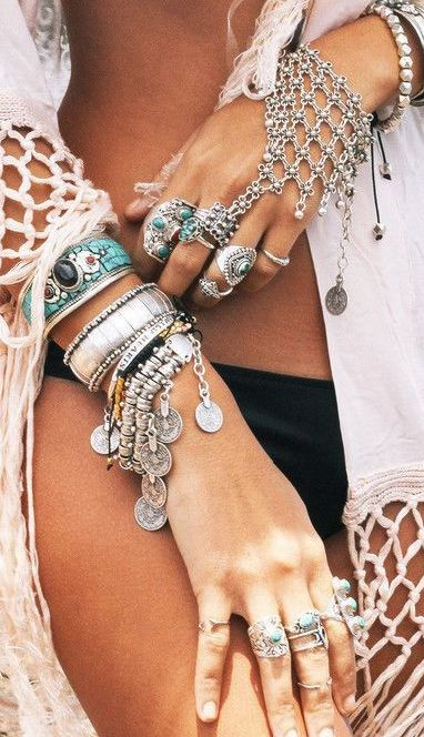 Bohemian jewelry style                                                                                                                                                                                 More