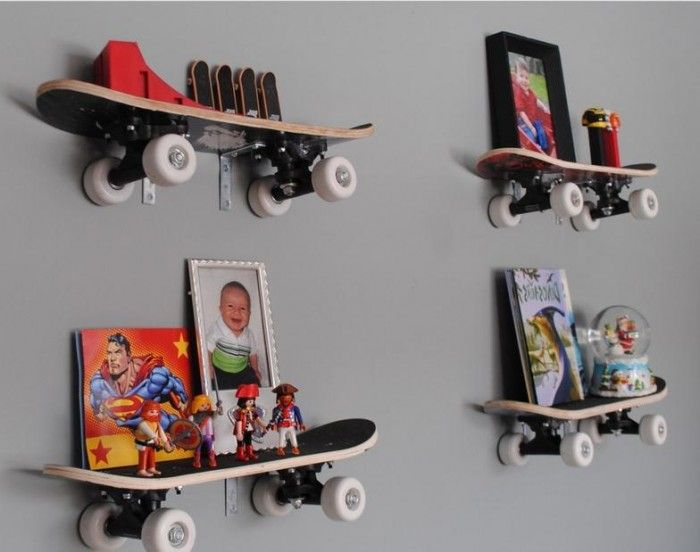 Baby boy room ideas shelves. Skateboard ...