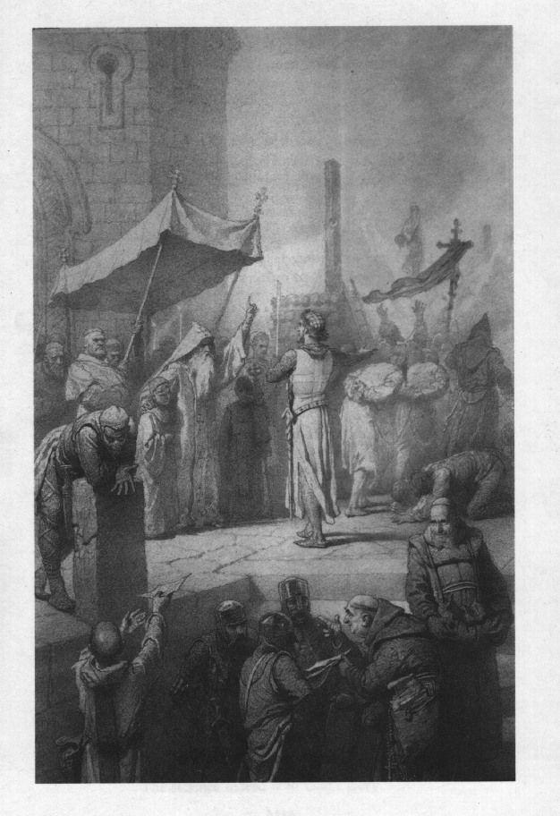 Illusztráció Madách Imre Az ember tragédiája című művéhez: Konstantinápolyban (7. szín)  1887