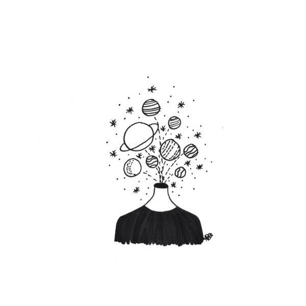 the voyager - eaurthling: everyone's different ❤ liked on Polyvore featuring fillers, doodles, art, drawings, fillers - sketches, text, backgrounds, outline, quotes and phrase