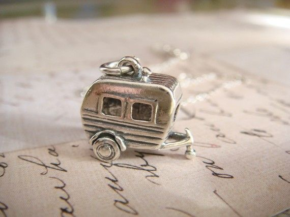 3-D Camper - Sterling Silver Charm