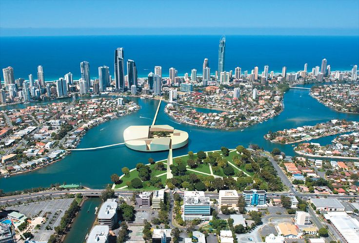 Sky view of Surfers Paradise, Queensland, Australia