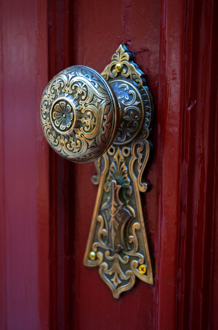 Renovating an old home gives one an appreciation for old door knobs. This one is gorgeous.   redsomethingdesign