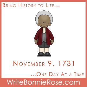 Timeline Worksheet: November 9, 1731. Enjoy this timeline worksheet all about the world scientist and inventor Benjamin Banneker was born into on this day in 1731. - WriteBonnieRose.com
