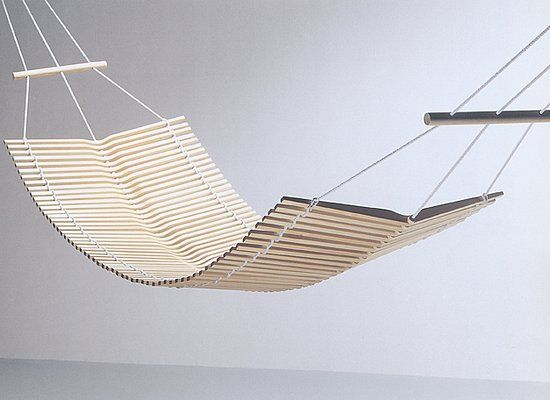 "A wooden hammock ""Calani Japan"" from Colmio, Finland"