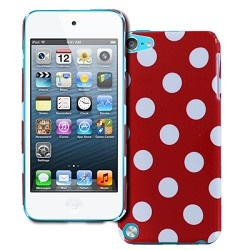 EMPIRE® Apple iPod Touch 5 Red Polka Dot Design Slim Fit Hard Case Cover