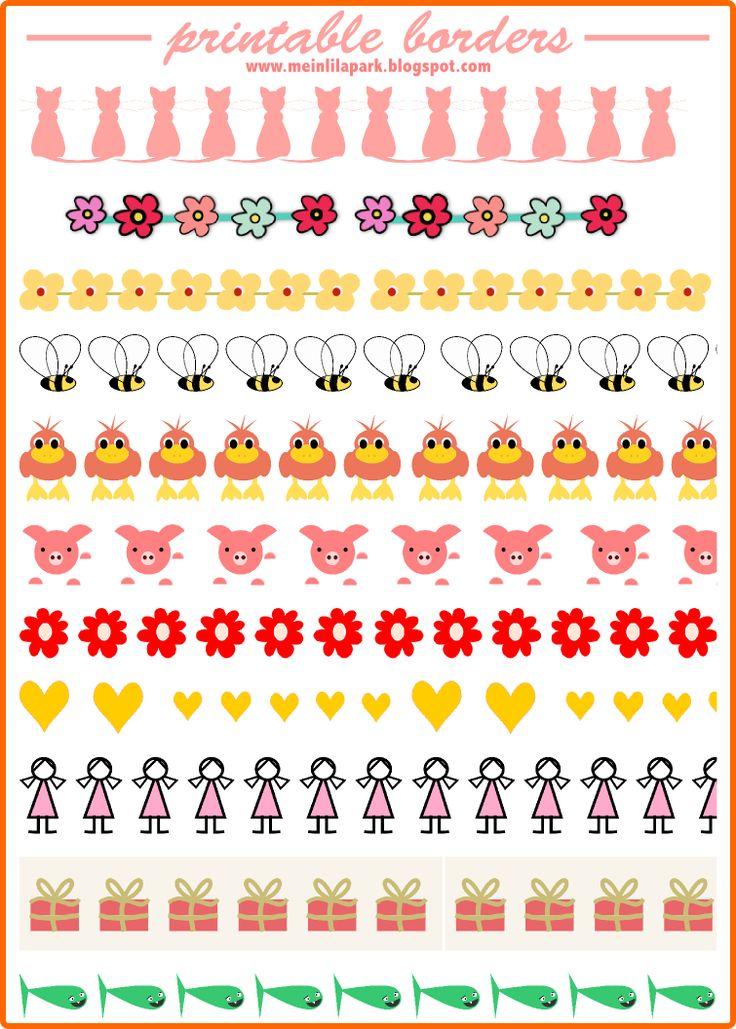 MeinLilaPark – DIY printables and downloads: Free printable borders • faux masking tape stripes • ausdruckbare Clipart • freebie