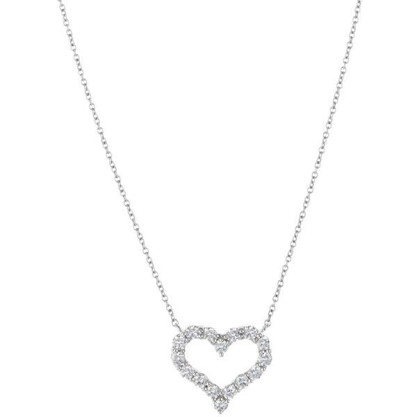 Tiffany & Co. Tiffany & Co. Small Diamond Heart Necklace ($2,995) ❤ liked on Polyvore featuring jewelry, necklaces, accessories, no color, long pendant necklace, vintage necklace, pendants & necklaces, vintage long necklace and necklaces & pendants
