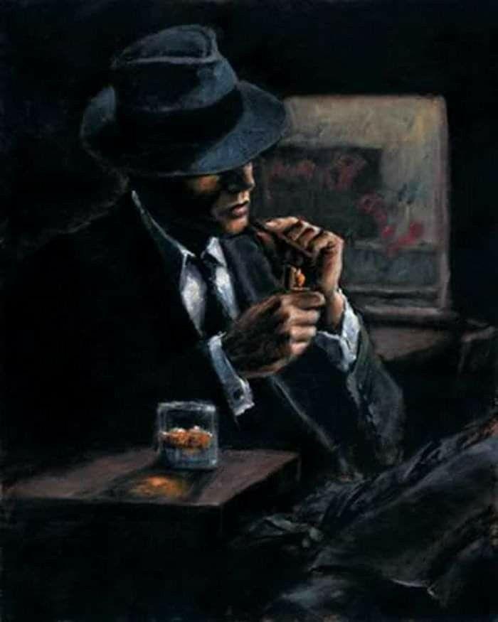 Pin By Diane Plante Bruneault Choupet On Noir Blanc Et Noir Blanc Couleur Fabian Perez Original Art Painting Cigar Art
