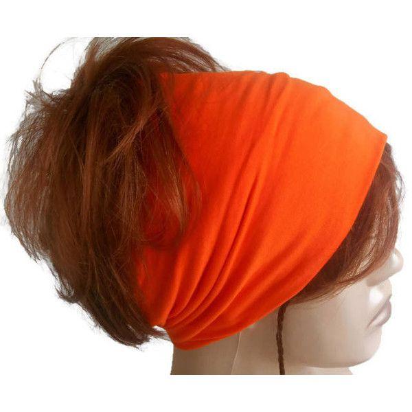 Yoga headband, Orange headband, Wide headband, Women headband, Scarf... ($15) ❤ liked on Polyvore featuring accessories, hair accessories, bandanna headband, head wrap hair accessories, wide yoga headband, head wrap headbands and kerchief headband
