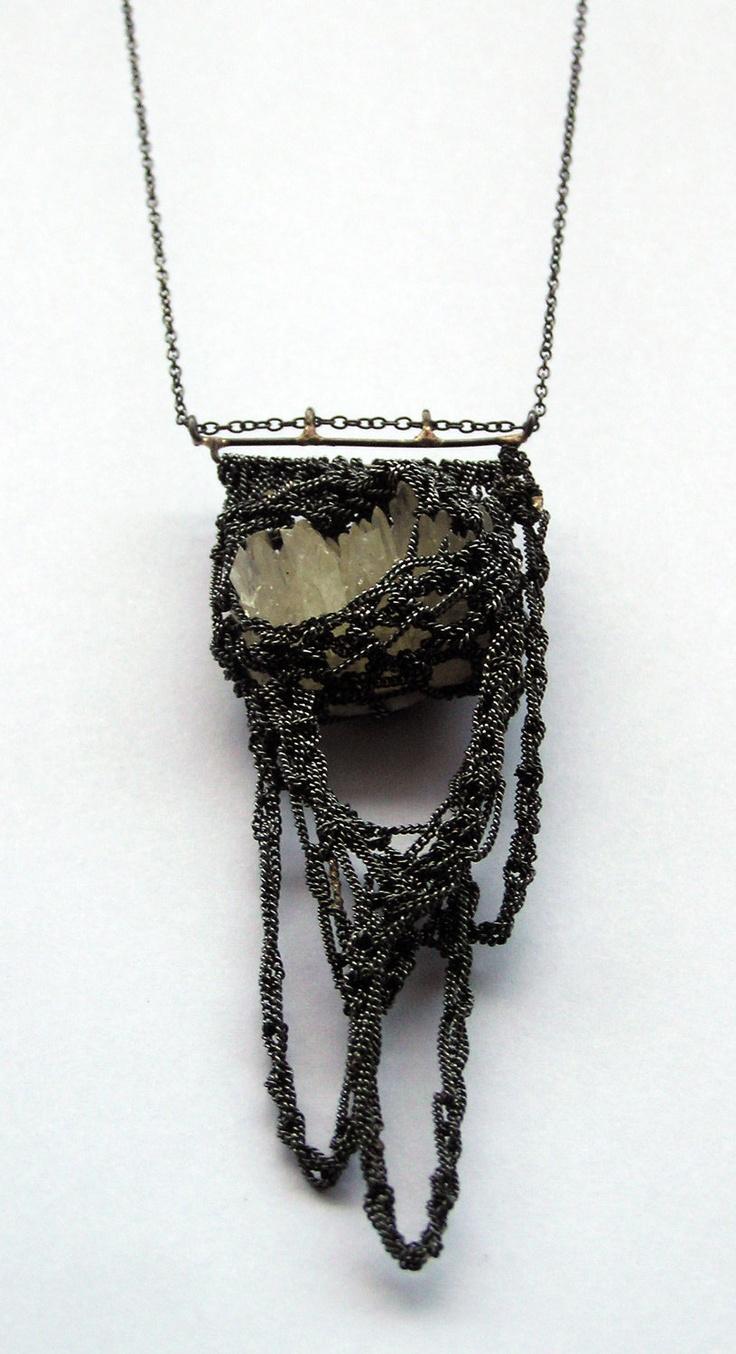 Julia Berg Tel Aviv, Central, Israelcalcite cluster & hooks necklace via PetiteMort
