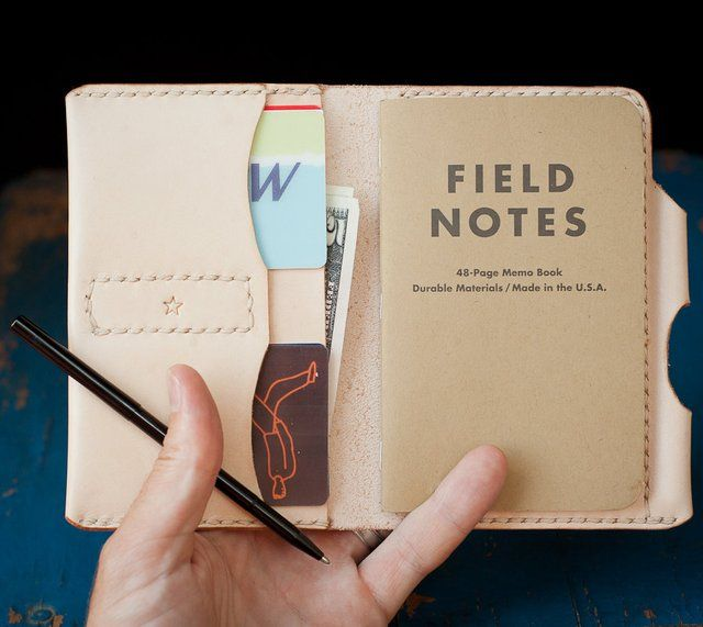 Field Notes Leather Wallet  Things I Want    Journal