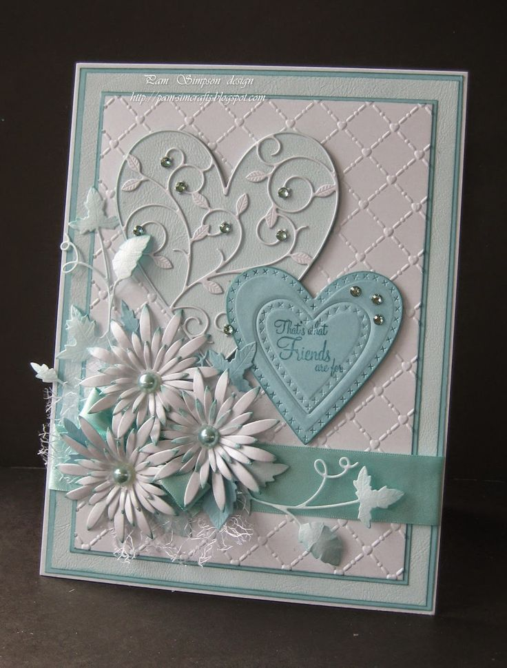 I don't usually like a lot of stuff on a card, but this is quite pretty.