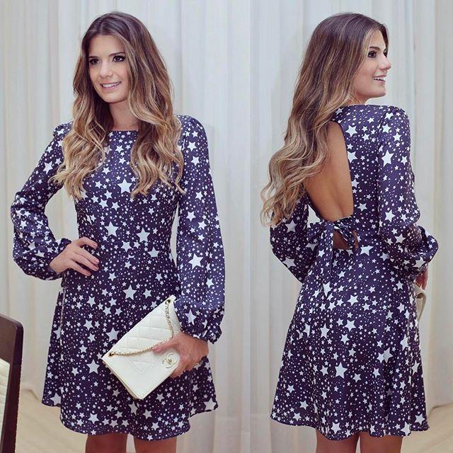 {Stars ✨} Vestido @raizzoficial 💙 Estampa linda de estrelas!