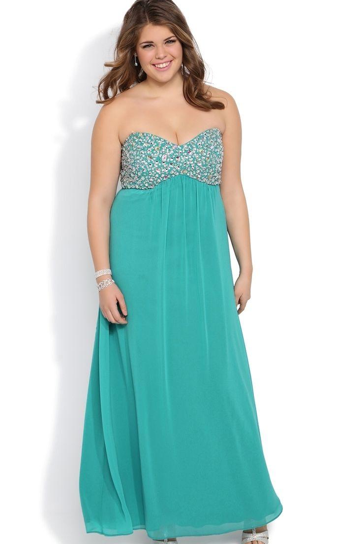 55 best Plus size prom dresses images on Pinterest   Party wear ...