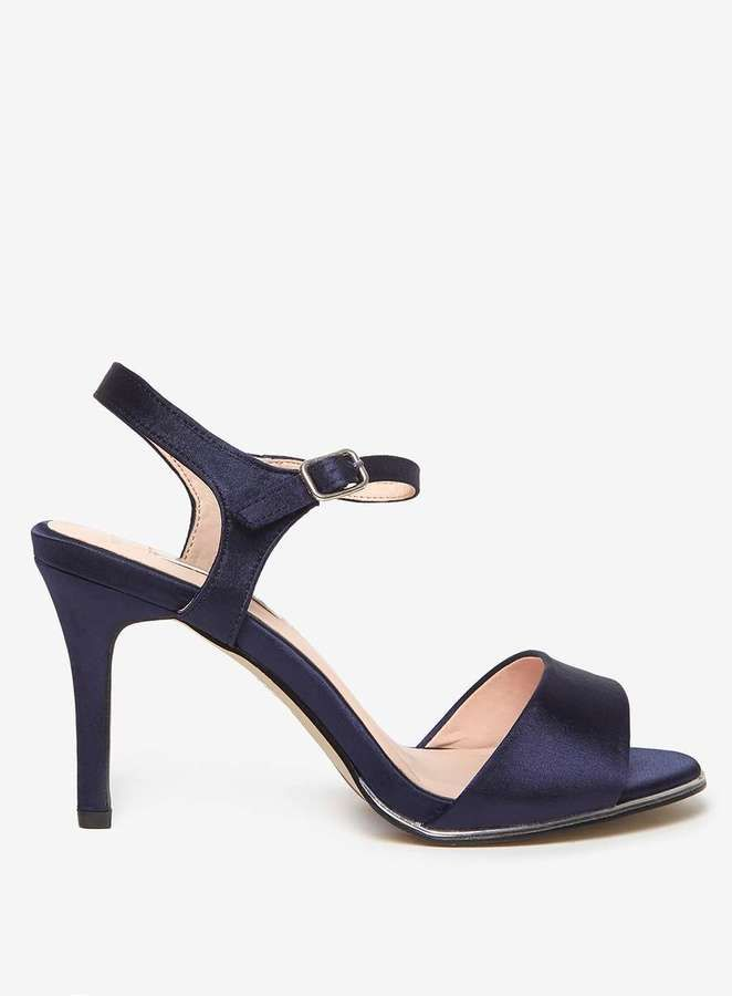 **Showcase Wide Fit Navy 'Senorita' Sandals