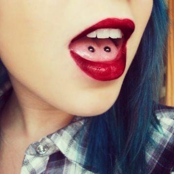 Venom bites; double tongue piercing