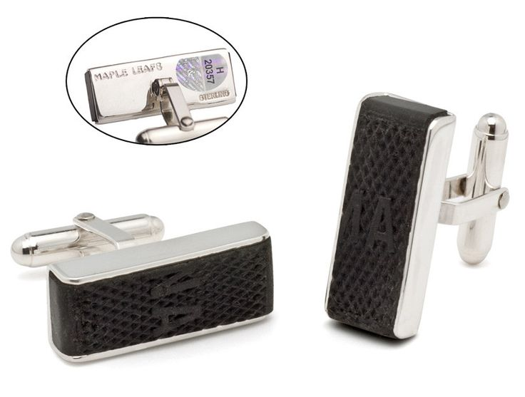 Toronto Maple Leafs Game Used Puck Edge Cuff Links