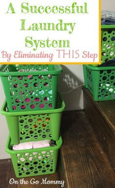 A laundry system that works! It combines steps so you use your time more efficiently. It eliminates a certain step that just adds to most systems. Doing this will save you hassle, like when your laundry piles up in another part of your house (the couch?). It also keeps an orderly look if you can't complete it ALL at that moment.
