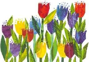 Tulips from Draw Me a Star by Eric Carle...this would be a great printmaking project
