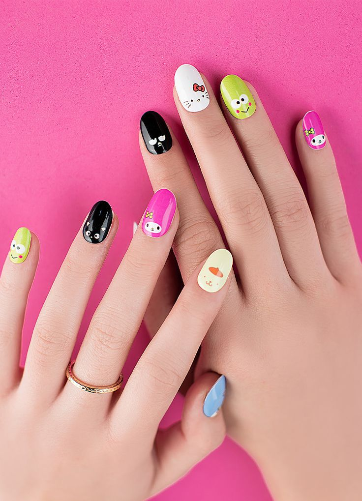 Everyone's favorite girl is back, and this time, she brought friends! Wear your favorite Sanrio characters with these adorable nail wraps featuring the faces the dearest friends!