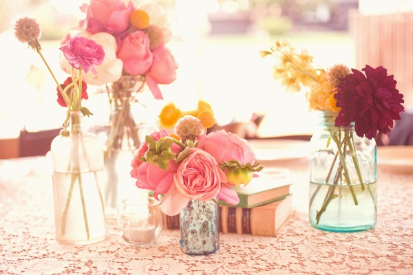 sweet and simple flower arrangements