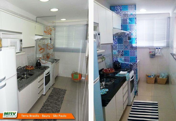 Apartamento decorado 2 dormitórios no Terra Brasilis  Bauru  SP  MRV Engen -> Banheiros Decorados Apartamentos Mrv