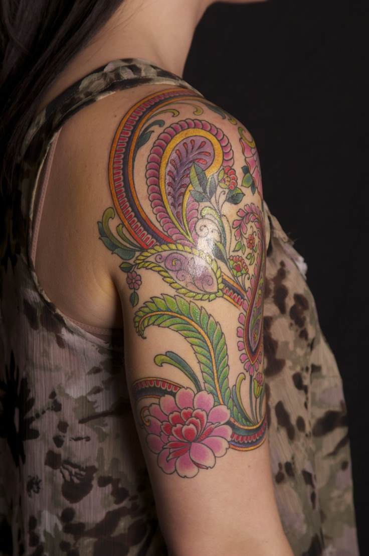paisley tattoo designs for women | Jim Miner Tattoo - LiLz.eu - Tattoo DE
